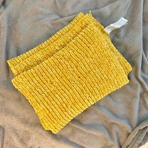 F21 Yellow Knit Scarf